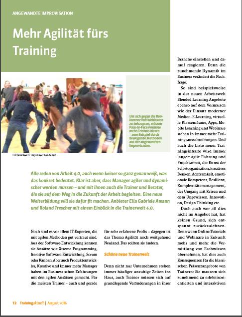 Trainingaktuell - Mehr Agilität für´s Training