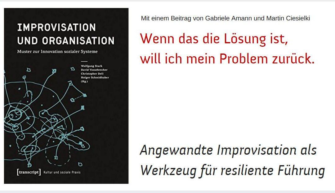 Neuerscheinung: Improvisation und Organisation