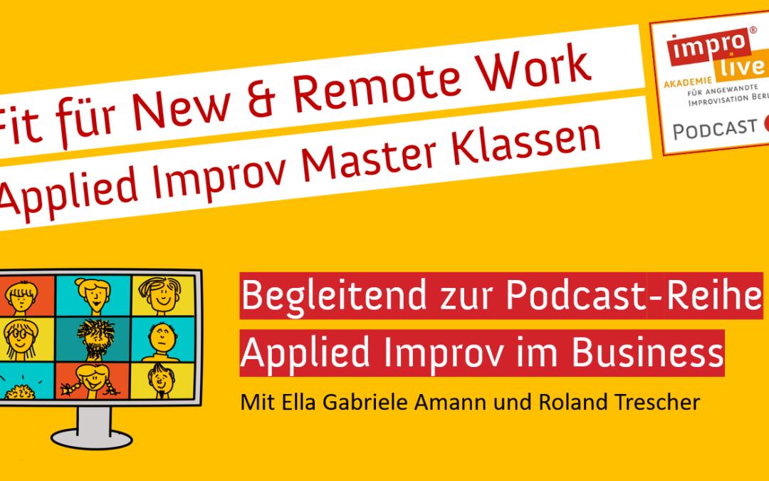 Applied Improv Master-Klassen – für Teams, Projektleiter & Führungskräfte
